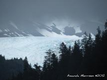 A glacier carves out a valley near Seward, AK.