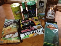 My favorite foods from Costa Rica ready to be sent to the United States.